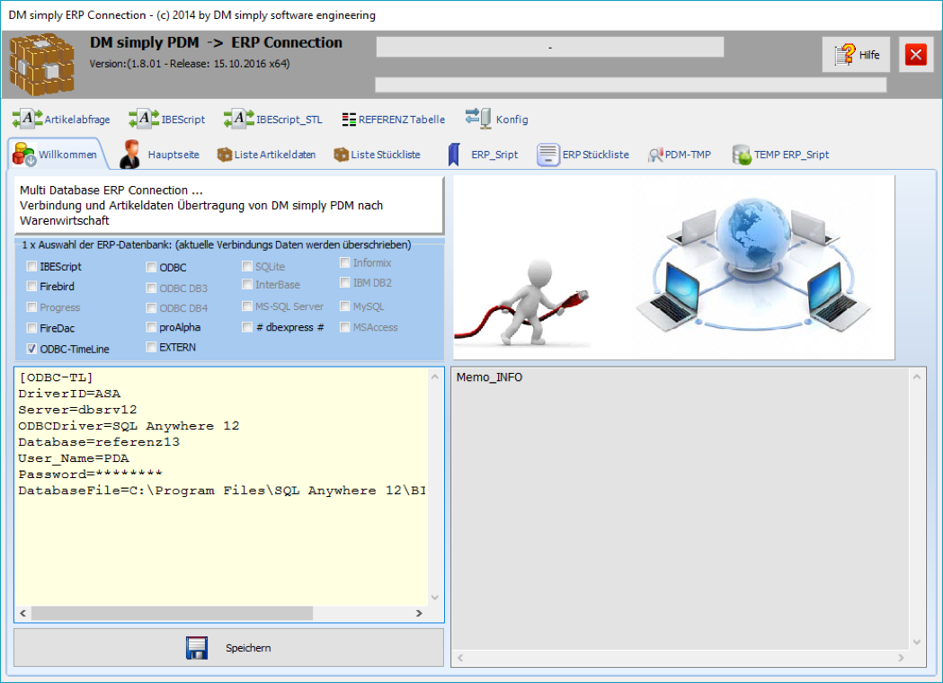 DM simpy PDM ERP Connection